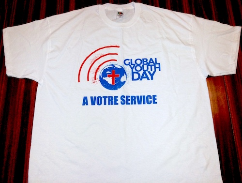 T-SHIRTS BLANC GYD TAILLE L